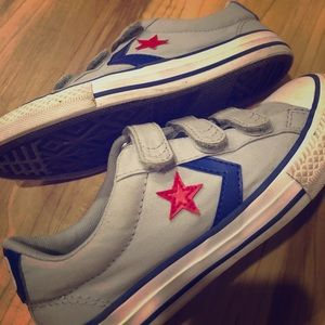 Converse Shoes - Red, Blue and Gray - Size 2